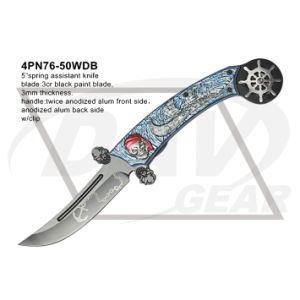 """5"""" Closed Folding Fantasy Knife with Twice Anodized (white&blue) pictures & photos"""