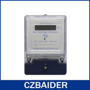 Single-Phase Electronic Watt Power Energy Voltage Meter Plastic Base (DDS2111)
