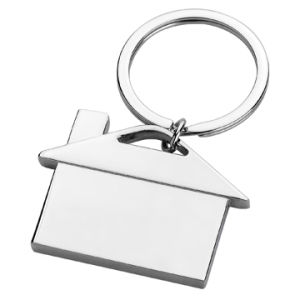 Metal Gift Customized Print Logo Simple House Shape Keychain (F1325)