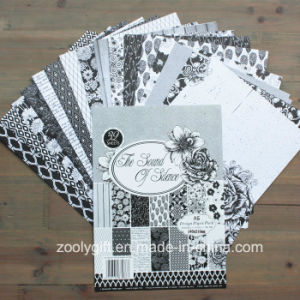 Black White Scrapbook Paper Supplier A5 Design Paper Pack pictures & photos