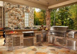 Stainless Steel Outdoor Kitchen with BBQ (WH-D096)