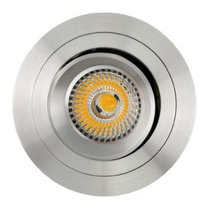 Lathe Aluminum GU10 MR16 Round Recessed Tilt Down Light (LT2308B) pictures & photos