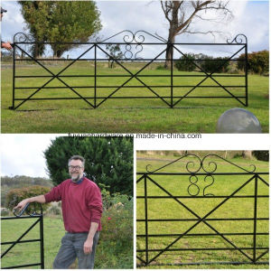 Wrought Iron Decorated Type Garden Farm Gate pictures & photos