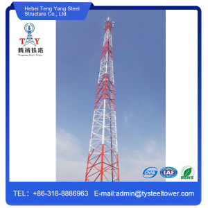 Galvanized Four Legged Angle Steel Telecommunication Tower pictures & photos