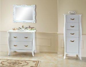 Pure White New Classical Bathroom Cabinet
