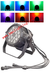 18 RGBW 4in1 Outdoor Waterproof Stage LED PAR Light