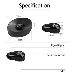 China Bulk Site Super Mini Invisible Hidden Wireless Bluetooth Headset with Charge Case