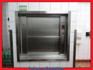 Cheap Manual Open Sliding Door Dumbwaiter Goods Elevator pictures & photos