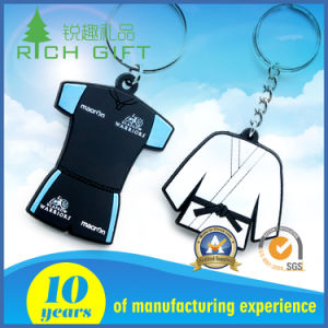 Customized Soft PVC Keychain with Taekwondo Design pictures & photos