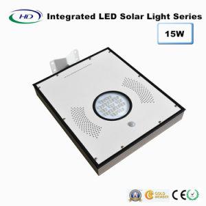 15W PIR Sensor Integrated LED Solar Garden Light pictures & photos