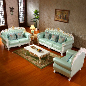 Living Room Leather Sofa with Cabinets for Home Furniture