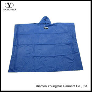 Custom PVC Waterproof Square Rain Poncho for Adult pictures & photos