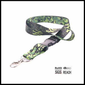 Custom Cool Camo Printed Safety Polyester Lanyard No Minimum pictures & photos