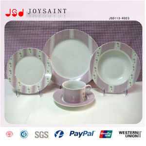 High Quality Porcelain Dinner Sets with Plate Cofffee Cup Saucer