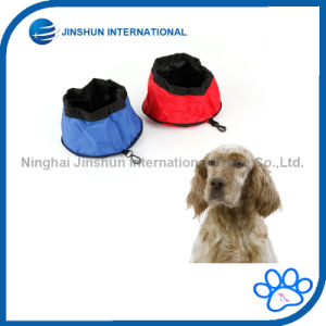 Oxford Cloth Waterproof Portable Zipper Foldable Travel Dog Water Bowl pictures & photos