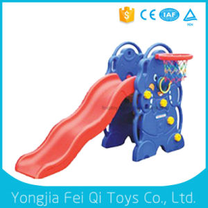 High Quality Popular Large Indoor Plastic Slide with Basketball Hoop pictures & photos