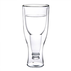 350ml Beer Cup Double Wall Creative Shape Mouthblown Handmade Borosilicate pictures & photos