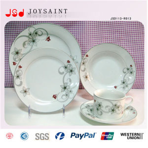 Round Ceramic Dinner Plate Bulk Cheap White Porcelain Flat Plate for Restaurant Hotel pictures & photos