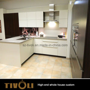 America Solid Wood White Kitchen Cabinet and Kitchen Furniture with Granite Bench Top (AP137) pictures & photos