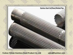 201 Stainless Steel Perforated Tube for Auto Parts Exhaust Muffler pictures & photos