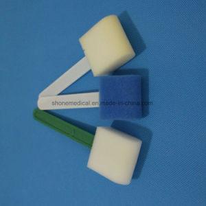 Plastic Handle Disposable Medical Sponge Stick pictures & photos