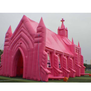 Pink Color Giant Inflatable Church Castle for Wedding Rental pictures & photos