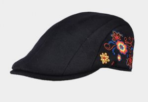 Women′s Floral Embroidery Beret pictures & photos
