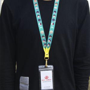 Hot Custom Fashion ID Badge Double Hook Polyester Lanyard