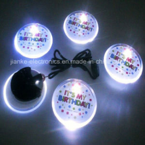 Circle Shape LED Blinking Badge with Logo Printed (3569) pictures & photos