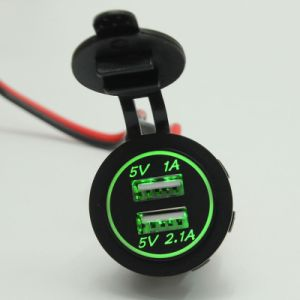 Waterproof 12V Dual USB Car Motorcycle Cigarette Lighter Plug LED Light Bar pictures & photos
