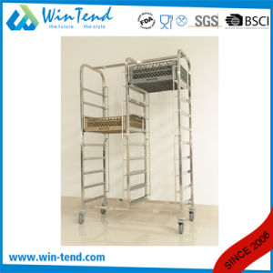 Manufactory 4 Tiers Commercial Single Line Basket Rack Trolley pictures & photos