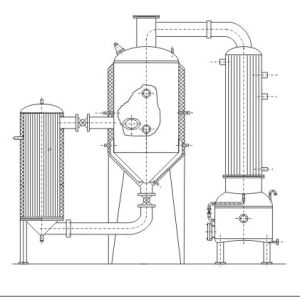 Stainless Steel Steam Heating Single-Effect Circulation Concentrating Equipment for Herb pictures & photos