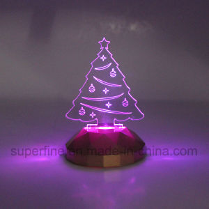 Safe Using Wholesale Battery Powered Multicolor Elegant Birthday Acrylic Christmas Tree LED Light Gift pictures & photos