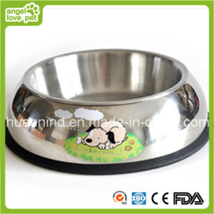 Printing Stainless Steel Pet Feeding Bowl pictures & photos