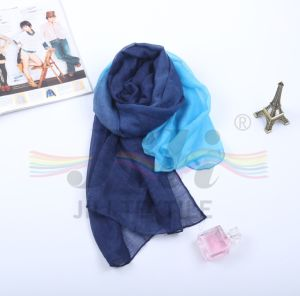 Newest Fashionable DIP Dye Gradient Color Hijab Scarf