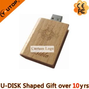 Engraving Logo Wooden USB Flash Drive for Book Gifts (YT-8117) pictures & photos
