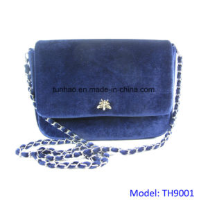 Shimmer Velvet Evening Bag Women Chain Clutches pictures & photos