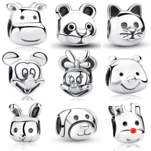 100% 925 Sterling Silver Charms, , Mickey, Minnie, Panda, Winnie, Cat, Rabbit, Calf, Dog, Reindeer Rudolph, Beads for Bracelet DIY pictures & photos