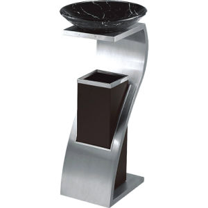 Fashion Design Stainless Steel Lobby Ashtray Bins Trash Can pictures & photos