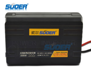 Suoer Factory Price 500W DC 12V to AC 220V Power Inverter (SAA-500AS) pictures & photos