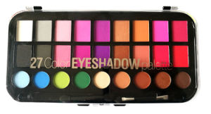 Hot Selling Hight Quality Premier OEM/ODM Customized 27 Color Cosmetics Eyeshadow Palette with Highlighter, Matte, Shimmer pictures & photos