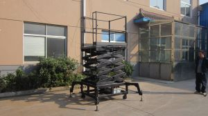 300kg 6m Hydraulic Scissors Lift Equipment (SJY0.3-6) pictures & photos
