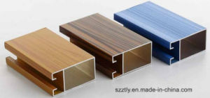 6063 Wood Grain Aluminum Extruded Profile for Furniture Decoration pictures & photos