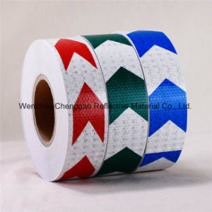 Honey Comb Type PVC Reflective Material Safety Marking Arrow Tape pictures & photos