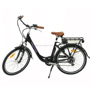 250W 26inch City Woman Electric Pedal Bicycle LED Display Electric Bike En15194 Lithium Battery E-Bike Disk Brake pictures & photos