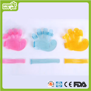 Three Colors PVC/TPE Finger Pet Brush pictures & photos