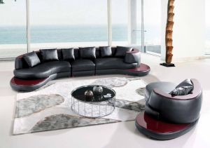 Large Corner Sofa for Modern Sofa Leather Sectional U Shaped pictures & photos