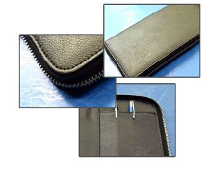 Cow Leather Business Wallets with Pen Holder (HG09) pictures & photos