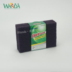 Best Selling Kitchen Cleaning Product Dark Purple Abrasive Scouring Pad pictures & photos