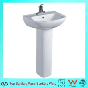 Bathroom Shape Bathroom Wash Pedestal Basins pictures & photos